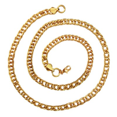 Cable Chain Fashion Gold Plated Chain