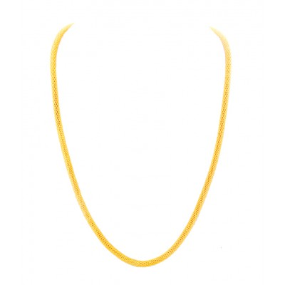 Mens Jewellery Gold Round Snake Design Gold Plated Chain