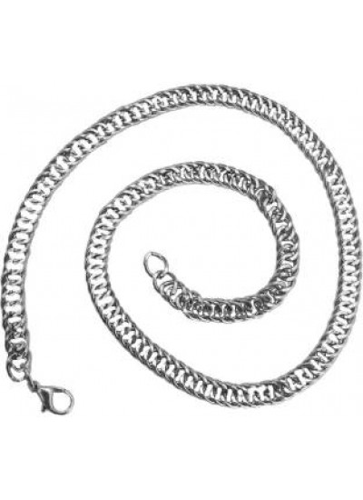 Mens Jewellery Silver Link Design Chrome plated Chain
