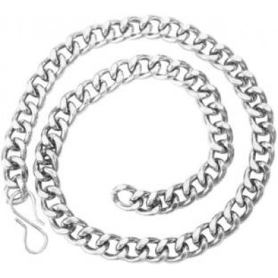 Silver  Curb Fashion Chain