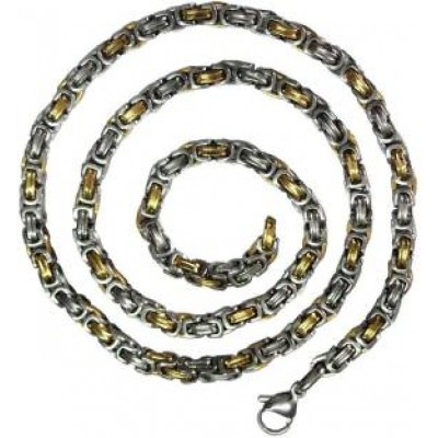 Elegant Silver::Gold Dual Tone Link Fashion Stainless steel Chain
