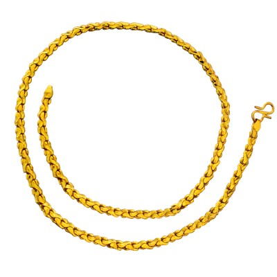 Gold Herringbone Fashion Stainless Steel Chain