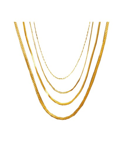 Menjewell Classic Designer Collection Gold Plated Different Style Chain Set Combo For Men