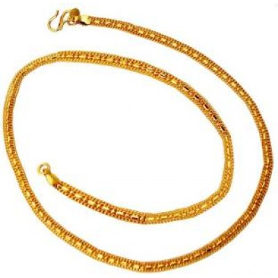 Mens Jewellery Gold  Flat Design Gold Plated Chain