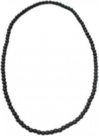 Elegant Black Fashion Wood Mala Chain Necklace