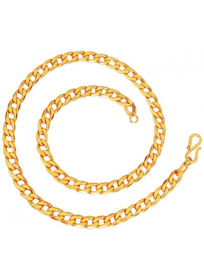 Mens Jewellery Royal & Good Looking  Gold Plated Cable Design Chain