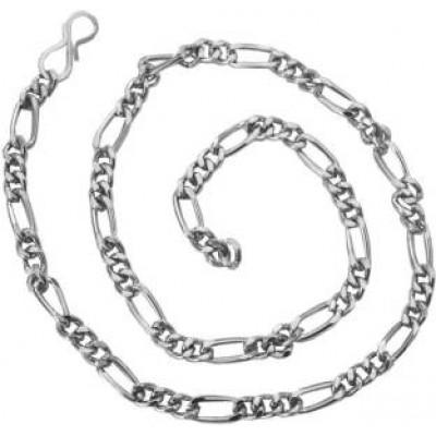 Silver  24k Figaro Design  Chain