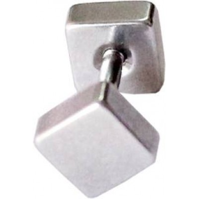 Silver  Square Shape Stud Earring