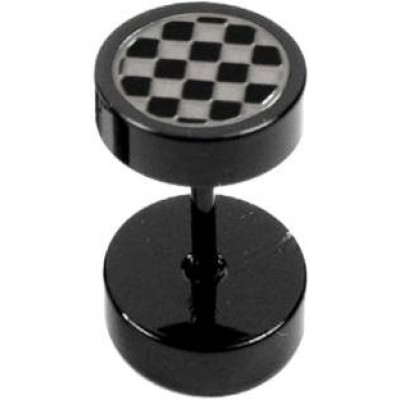 Black  checks dot Fashion  Stud Earring