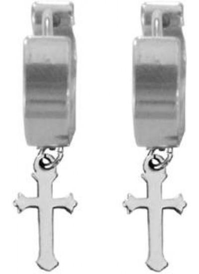 Silver  Criss Cross  Stud Earring