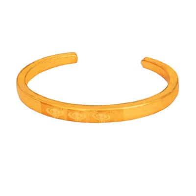 Menjewell Gold Plated Punjabi Sardar ji Sikkh Design Cuff Kada for Men And Boys(2.6)