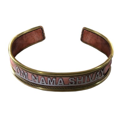 Menjewell Elegant Om Namah Shivay copper Kada
