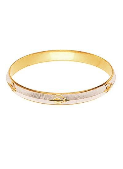 Gold::Silver Punjabi Sardar ji Sikkh Fashion Kada