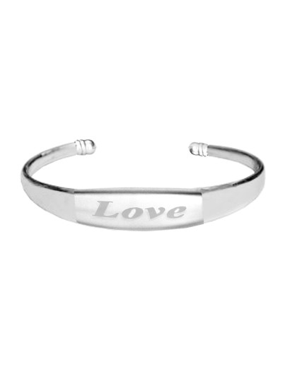Silver Adjustable Fashion Love Kada