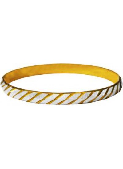 Gold::Silver Dual tone Punjabi Sardar ji Sikkh Fashion Brass Kada