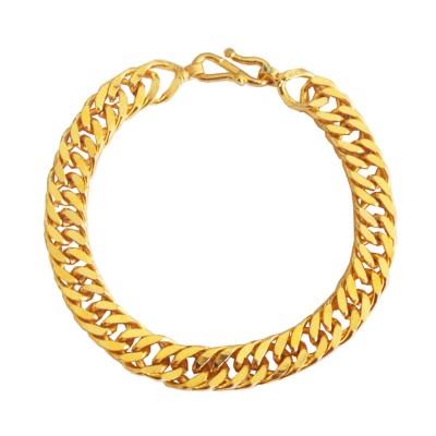 Imported Men's Jewellery Gold 'Simple but Classic' Link Chain Design Bracelet For Men