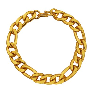 Imported Men's Jewellery Gold 'Simple but Classic' Figaro Chain Design Bracelet For Men