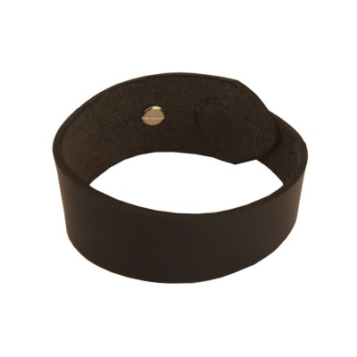 Menjewell Genuine Leather Black Stylish wrist band Leather Bracelet