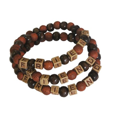 "Menjewell Friendship Day Special Fancy Multicolor Lettering ""FRIEND""In Alphabet Beads Design Friendship  Bracelet"