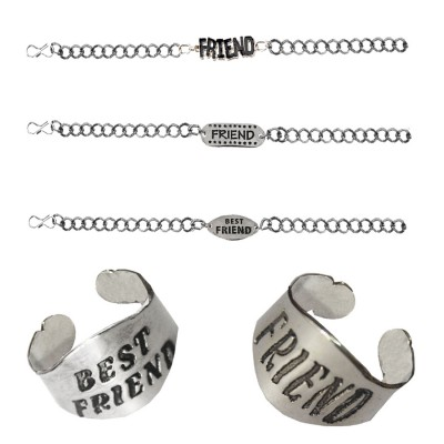 Menjewell Latest Style Multicolor Friendship Day Special Friend Design Bracelet & Ring Combo