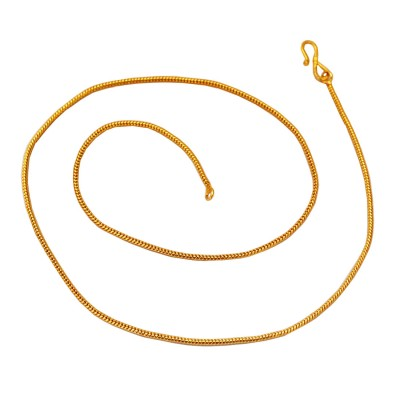 Snake Design 24K Yellow Gold Plated Brass Chain