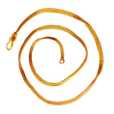 Menjewell Royal Gold Plated Herringbone Design Gold Plated Chain 18 Inch for Men / Boys