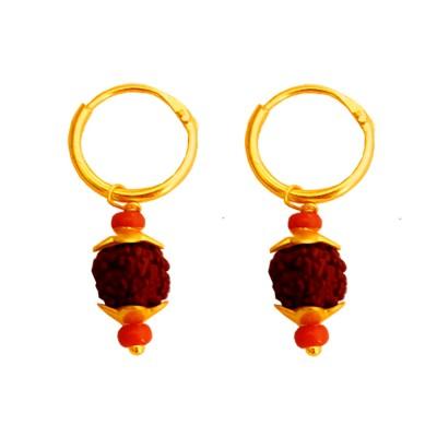 Mens Fashion Jewellery Fancy Unisex Style Multicolor Lord Shiva Rudraksha Bali  Earring