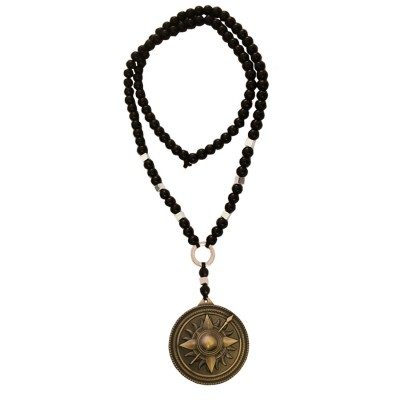 Menjewell New Collection Game of Thrones Black:Bronze Round Martell Design Pendant With Chain