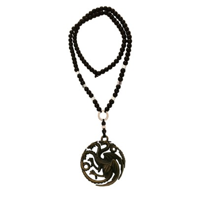 Menjewell New Collection Game of Thrones Black:Bronze Targaryen Dragon Die-Cast Pendant With Chain