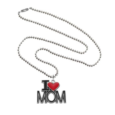 "Menjewell Mother's Day Special Express Your Feeling Through Multicolor Stylish ""I Love You Mom"" Design Pendant"