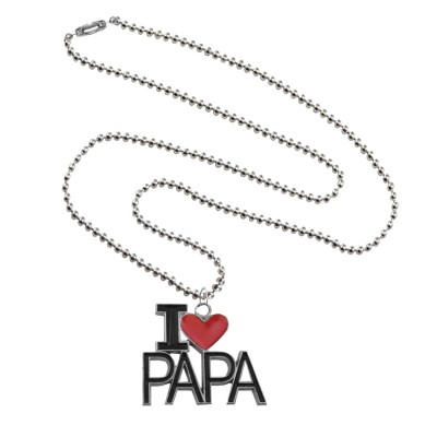 "Menjewell Father's Day Special Express Your Feeling Through Multicolor Stylish ""I Love You Papa"" Design Pendant"