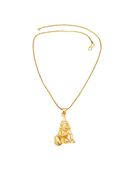 Buy designer fashionable krishna pendants for men boy we have a menjewell gold plated laddu gopal bal krishna pendant with chain for men aloadofball Gallery