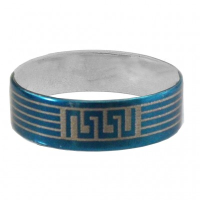 Blue  Thumb Band Fashion Ring