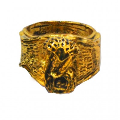 Gold  Lord Shiva Snake Fashion Ring
