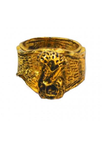 Gold  Lord Shiva Snake Fashion Ring