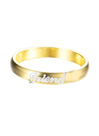 Gold::Silver  Friendship day Special  Friend Fashion Ring