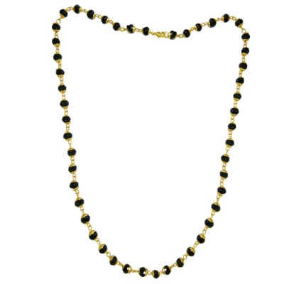 Menjewell Fantastic Collection Black::Gold Natural Beads Evil eye Protection Mala For Men
