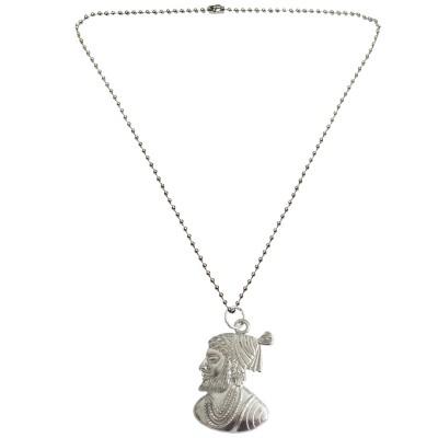 Menjewell New Collection Silver Chhatrapati Shivaji Maharaj Fashion  Pendant