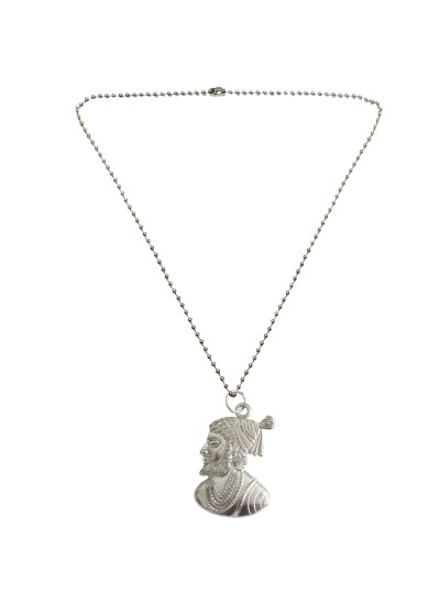 Menjewell New Collection Silver Chhatrapati Shivaji Maharaj Fashion  Pendant