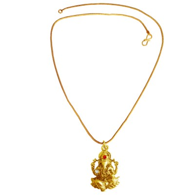 Menjewell New Collection Gold Revlis divine lord ganesha Design Pendant