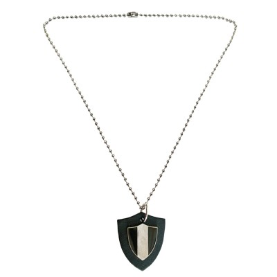 Menjewell Leather collection Multicolor Black Guns Triangle Fashion Accessories Design Pendant