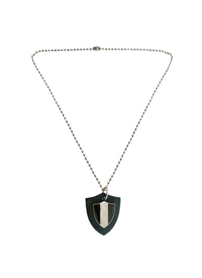 Menjewell Leather collection Multicolor Black Guns Triangle Fashion Accessories Design Pendant