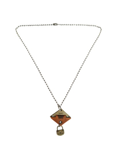 Menjewell Leather collection Multicolor New King & Lock Design Pendant