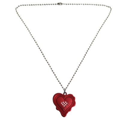 Menjewell Heart Jewellery Collection Red::Silver Unique Friend Design Heart Pendant For Men & Boys