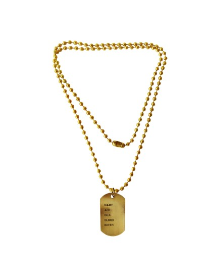 Menjewell Classic Collection Bronze Army Style Name Dog Tags Pendant
