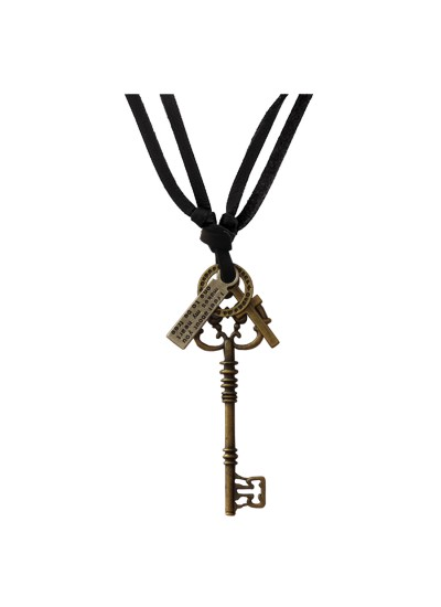 Bronze  key,cross,round shape fashion Pendant