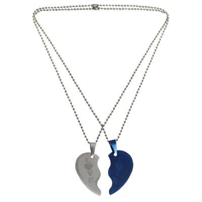 Couple Jewellery Love Broken Heart Dual Pendant