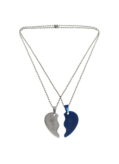 Couple Jewellery Love Broken Heart Dual Pendant