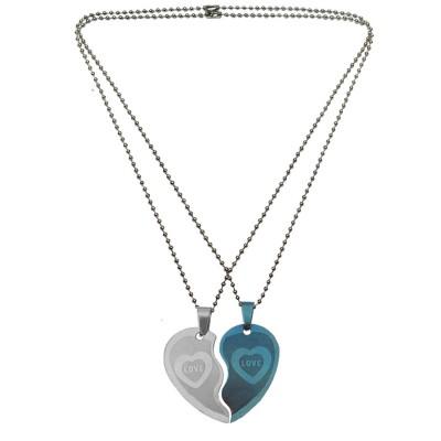 Couple Jewellery Broken Heart Dual Pendant