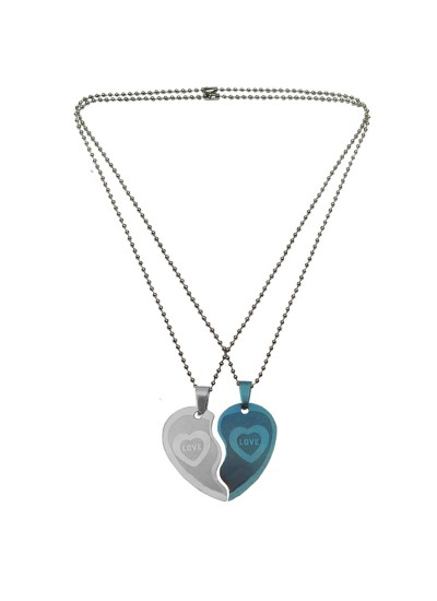 Couple Jewellery Broken Heart Dual Pendant